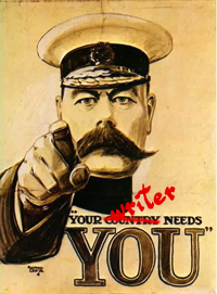 Your Writer Needs You