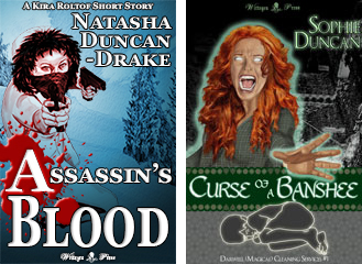 Assassin's Blood by Natasha Duncan-Drake and Curse of a Banshee by Sophie Duncan